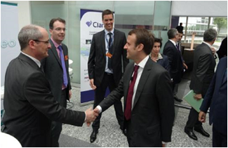 Clarity presented to the French Minister of Economy, Industry & Digital Affairs!